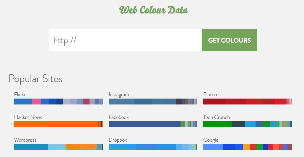 サイトのカラーコードを調べる「Web Colour Data」