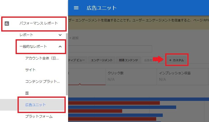 AdSenseの広告ユニットのクリック率の確認方法