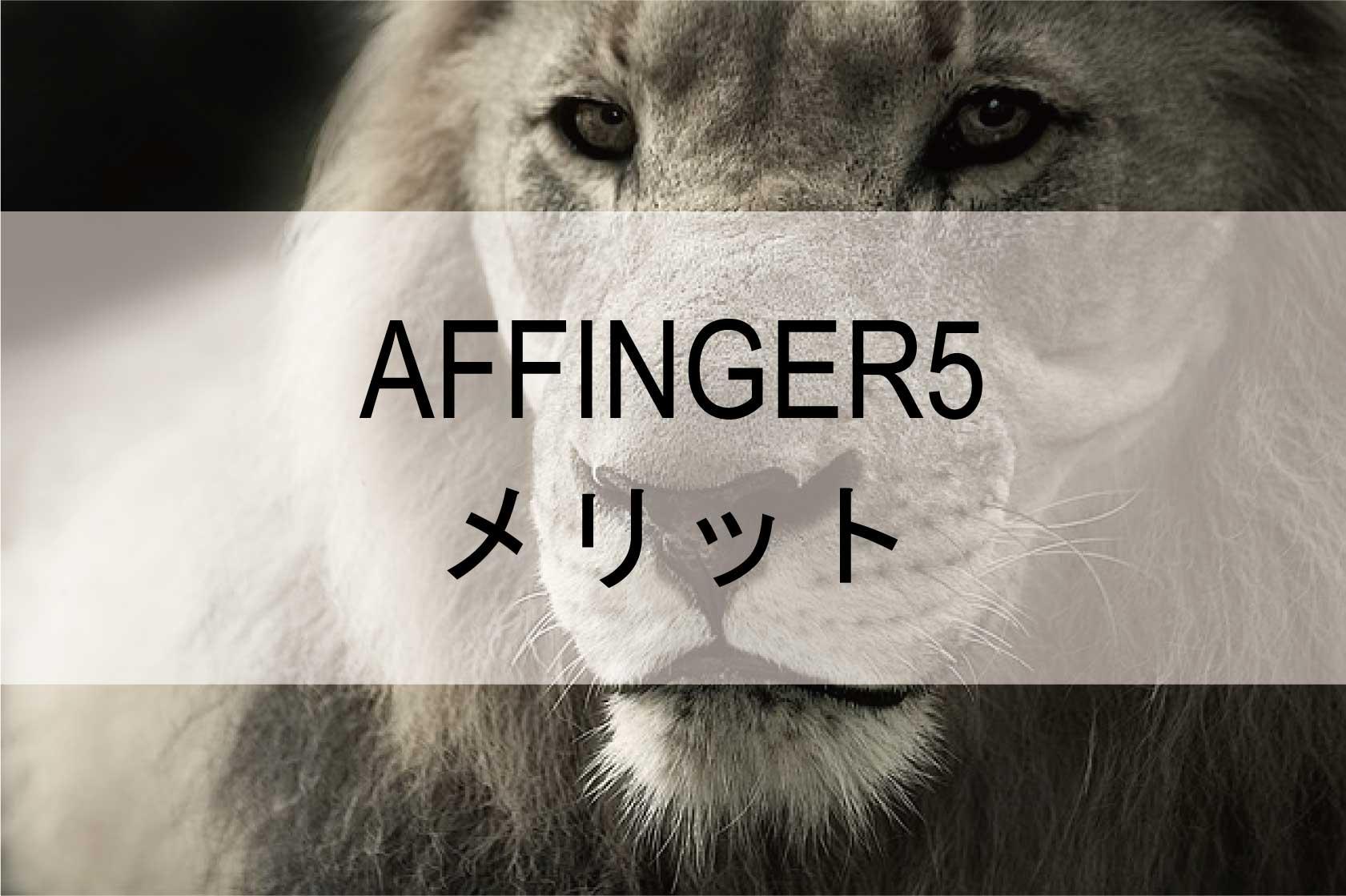 AFFINGER5のメリット